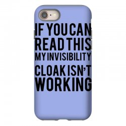 the magic t shirt invisible cloak humor top dope hipster geek indie funny gift iPhone 8 | Artistshot