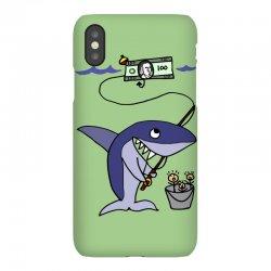 funny shark fishing for humans iPhoneX Case | Artistshot