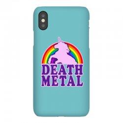 Funny Death Metal Unicorn Rainbow iPhoneX Case | Artistshot