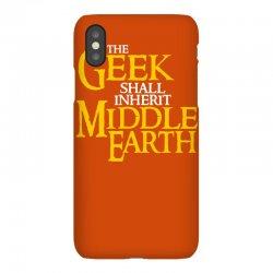 geek shall inherit middle earth iPhoneX   Artistshot