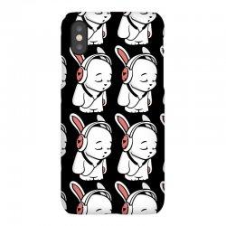 love music cartoon bunny iPhoneX Case | Artistshot