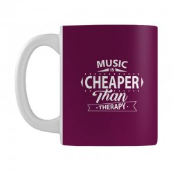 Music Is Cheaper Than Therapy Mug | Artistshot