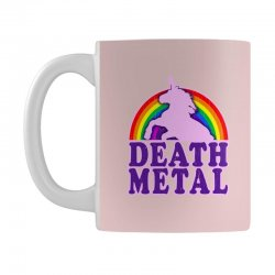 funny death metal unicorn rainbow Mug | Artistshot