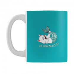 funny purr maid cat mermaid Mug | Artistshot