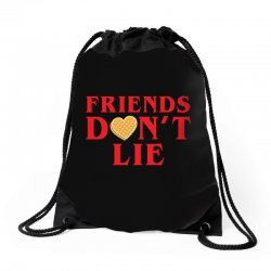 Friends Dont Lie Drawstring Bags | Artistshot