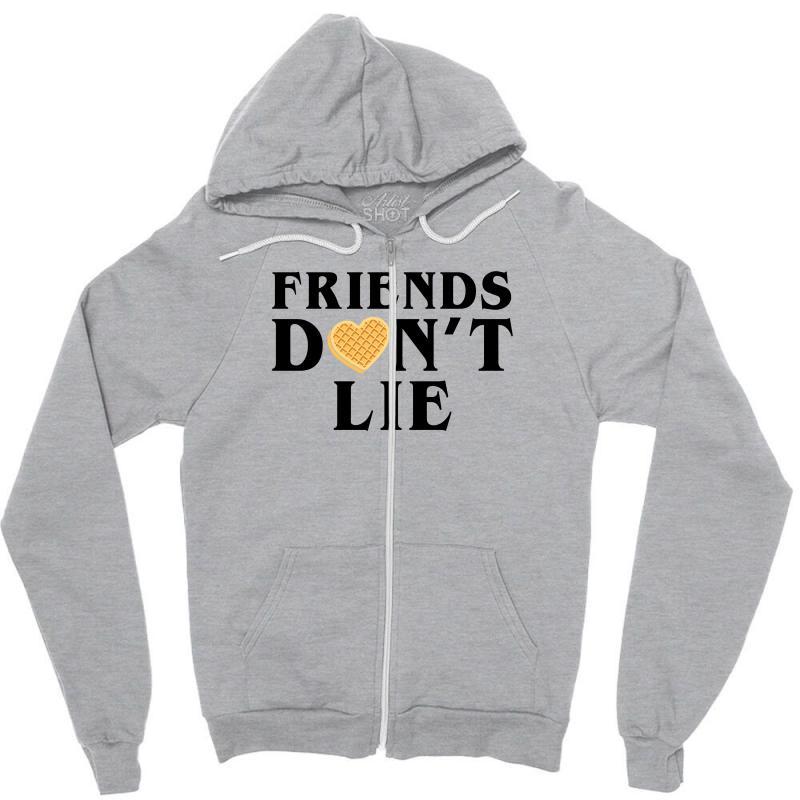 Friends Dont Lie Zipper Hoodie | Artistshot