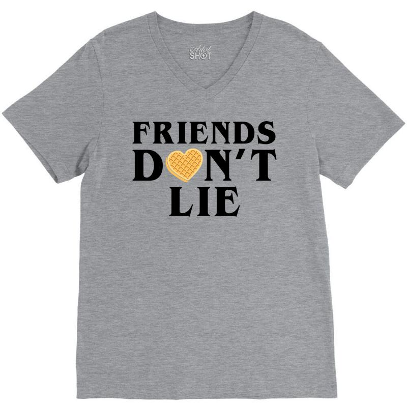 Friends Dont Lie V-neck Tee | Artistshot