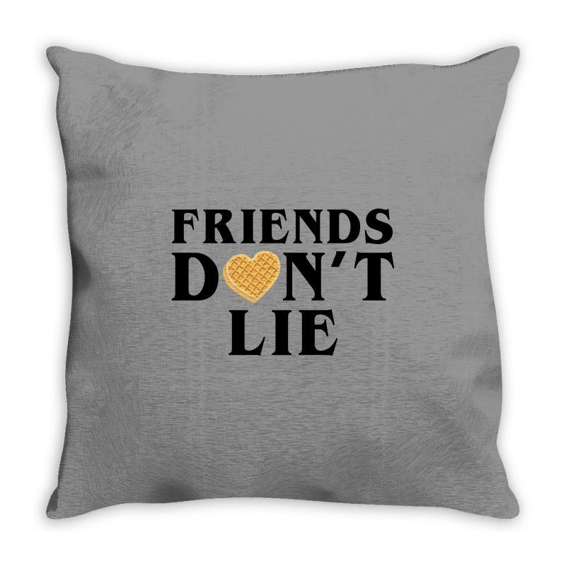 Friends Dont Lie Throw Pillow | Artistshot