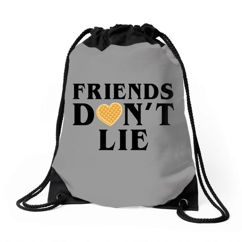 Friends Dont Lie Drawstring Bags | Artistshot