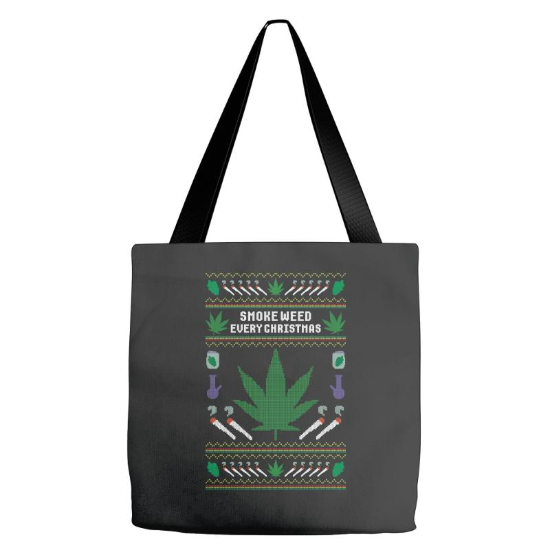 Smoke Weed Ugly Sweater Tote Bags | Artistshot