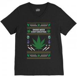 smoke weed ugly sweater V-Neck Tee | Artistshot