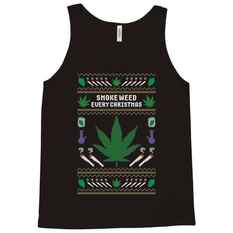 Smoke Weed Ugly Sweater Tank Top | Artistshot