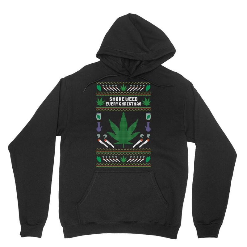 Smoke Weed Ugly Sweater Unisex Hoodie   Artistshot