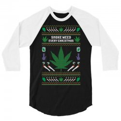 smoke weed ugly sweater 3/4 Sleeve Shirt | Artistshot