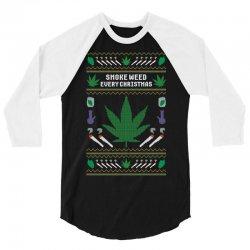 smoke weed ugly sweater 3/4 Sleeve Shirt | Artistshot