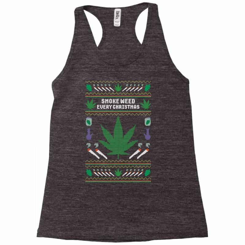 Smoke Weed Ugly Sweater Racerback Tank | Artistshot