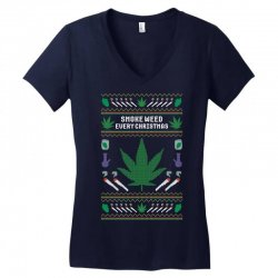 smoke weed ugly sweater Women's V-Neck T-Shirt | Artistshot