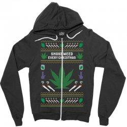 smoke weed ugly sweater Zipper Hoodie | Artistshot