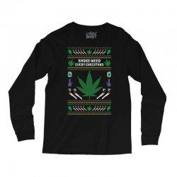 smoke weed ugly sweater Long Sleeve Shirts | Artistshot