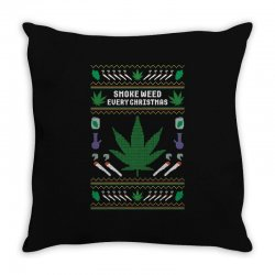 smoke weed ugly sweater Throw Pillow | Artistshot