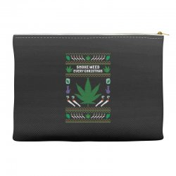 smoke weed ugly sweater Accessory Pouches | Artistshot