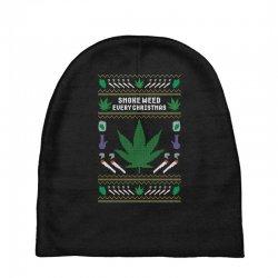 smoke weed ugly sweater Baby Beanies | Artistshot