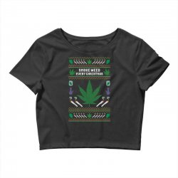 smoke weed ugly sweater Crop Top | Artistshot