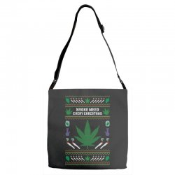 smoke weed ugly sweater Adjustable Strap Totes | Artistshot