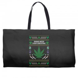 smoke weed ugly sweater Weekender Totes | Artistshot
