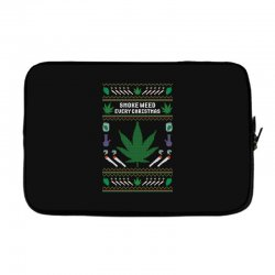 smoke weed ugly sweater Laptop sleeve | Artistshot