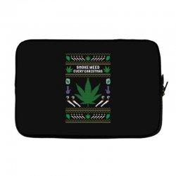 smoke weed ugly sweater Laptop sleeve | Artistshot