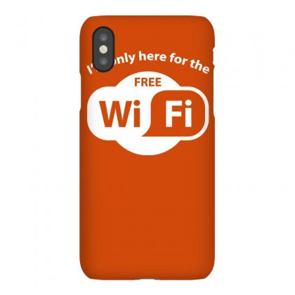 Here For The Free Wifi Iphonex Case Designed By Gematees