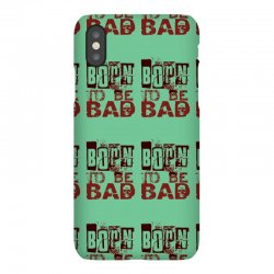 funny mens t shirt born to be bad iPhoneX Case   Artistshot