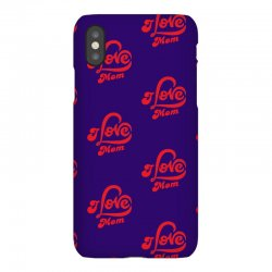 I love mom iPhoneX Case | Artistshot
