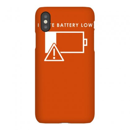 Hate Battery Low Iphonex Case Designed By Gematees