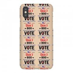 Don't Boo Vote 01 iPhoneX Case | Artistshot