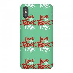 love to rock em iPhoneX Case | Artistshot