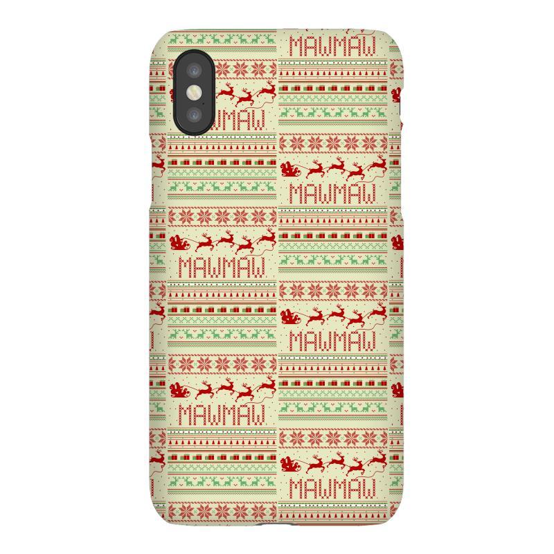 c85f7df5b5e28 Custom Mawmaw Ugly Christmas Sweater Xmas Iphonex Case By Rardesign ...