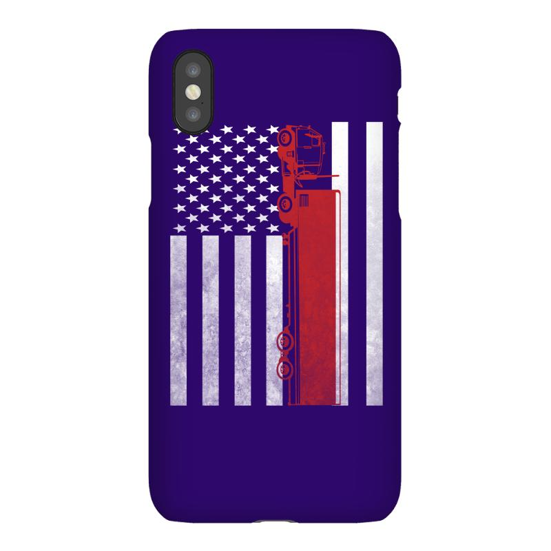 Custom Truck Driver Trucker - America Usa Flag T-shirt Iphonex Case ... 94f61e195a47