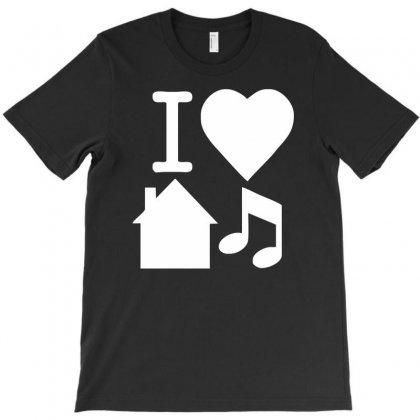 I Love House Music Dj Baseball T-shirt Designed By Syarip