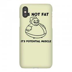 it's not fat, it's potential muscle iPhoneX Case   Artistshot