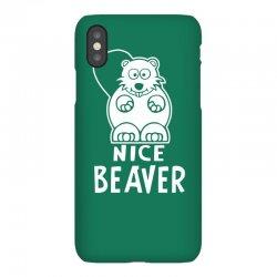 nice beaver iPhoneX Case | Artistshot
