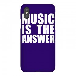 music is the answer printed iPhoneX Case | Artistshot