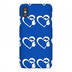 michigan heart love iPhoneX Case | Artistshot