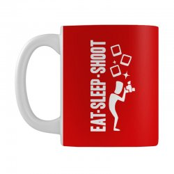 eat sleep shoot Mug | Artistshot