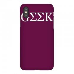 geek greek iPhoneX Case | Artistshot