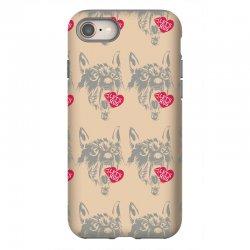 screaming wolf love you iPhone 8 Case | Artistshot