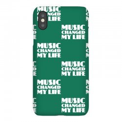 music changed my life iPhoneX Case | Artistshot