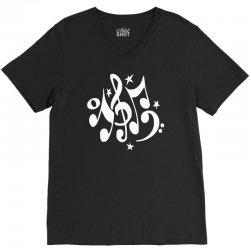 music notes#4 rock design graphic band V-Neck Tee | Artistshot