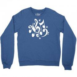 music notes#4 rock design graphic band Crewneck Sweatshirt | Artistshot